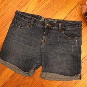Mossimo boyfriend rolled cuff denim shorts